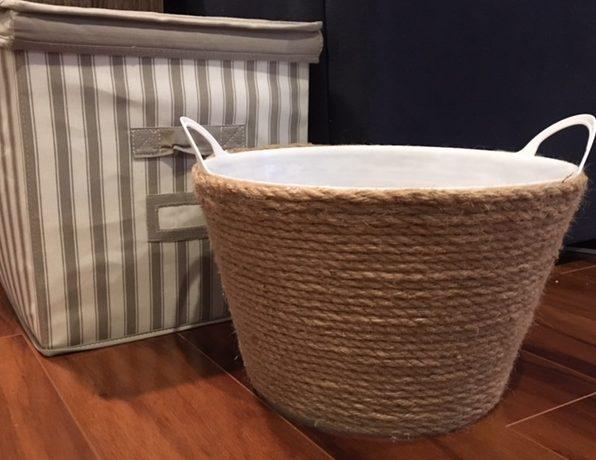 pottery barn storage basket hack the brophy wife. Black Bedroom Furniture Sets. Home Design Ideas